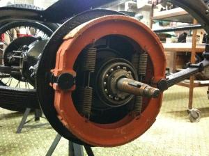 Rear brake shoes