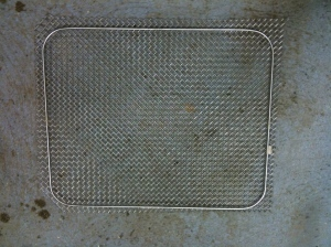 Grille mesh and frame