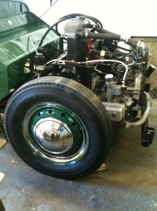 Jowett front wheel