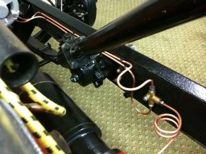 Front brake lines