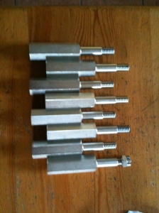 Friction damper mounting bolts