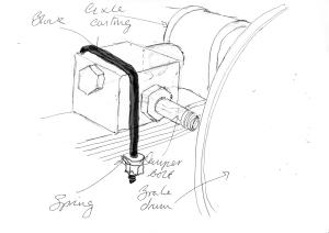 Rear mounting block
