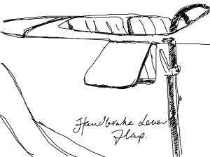 Handbrake lever flap