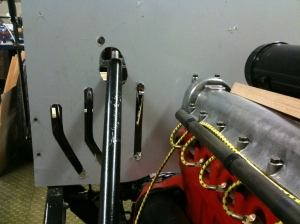 Pedal lever slots