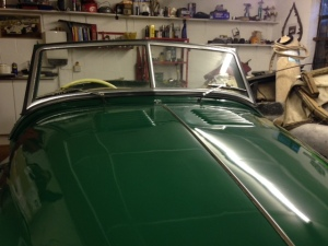 Jowett windscreen