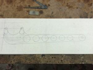 Rear axle radius arm