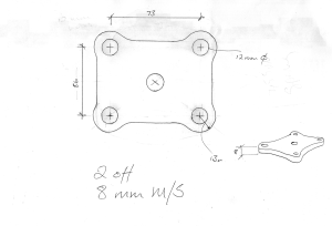 Spring clamp plate