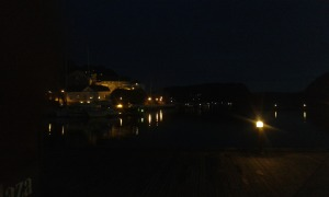 Halden at night