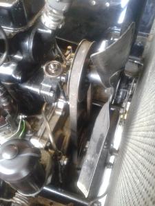 Fan belt adjustment
