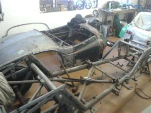 Racing Jowett chassis
