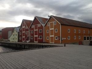 Harbour buildings Rognan